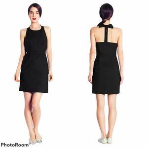 KATE SPADE Black Billie Bow T-Back Mini Dress